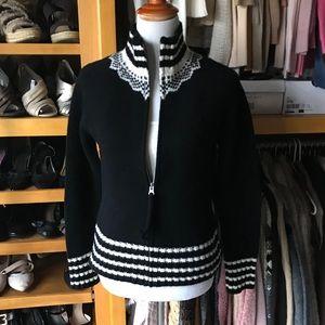 GAP timeless zip front cardi wool sweater